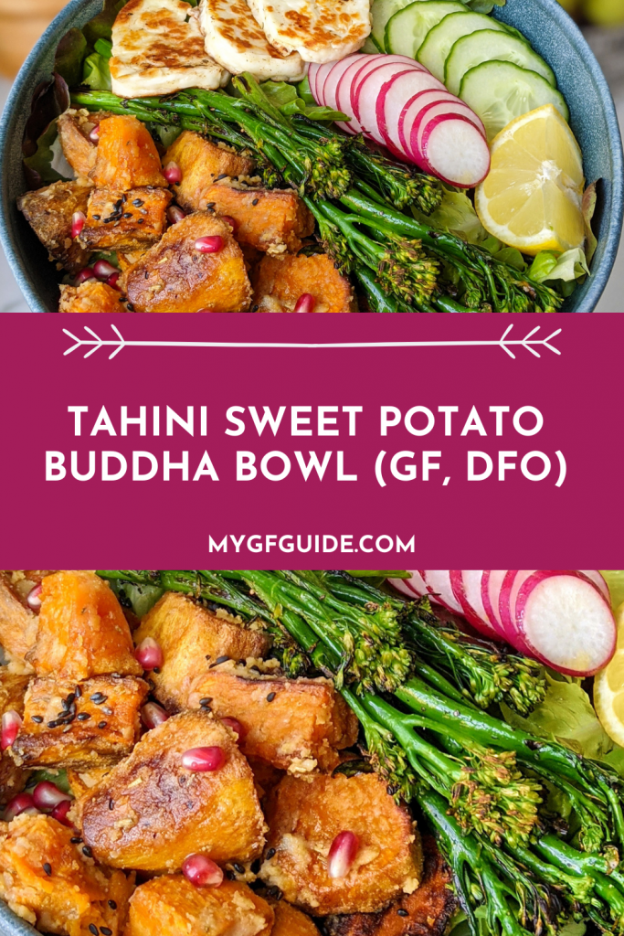 tahini sweet potato buddha bowl
