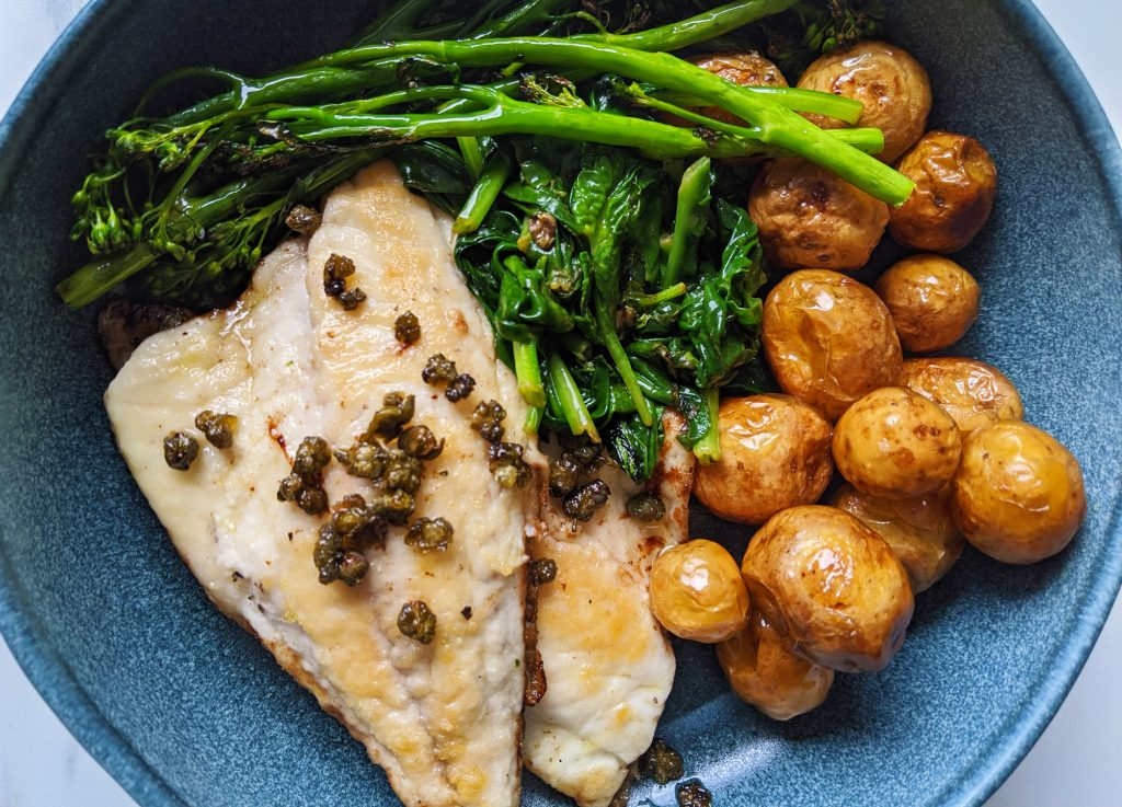 pan fried bream with lemon caper butter recipe