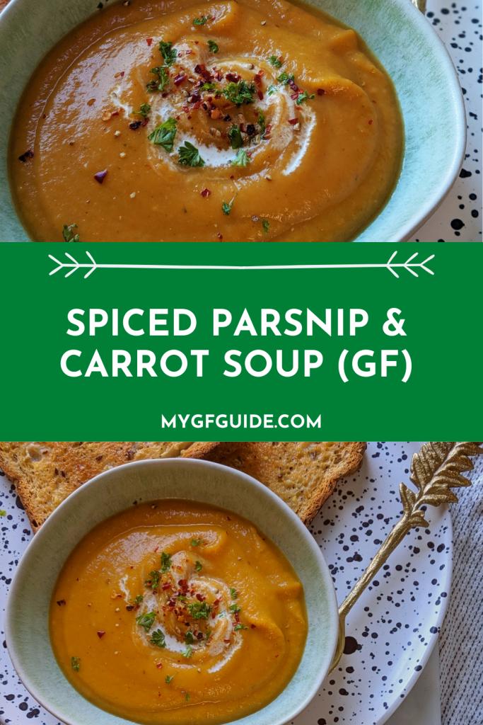 spiced parsnip carrot soup