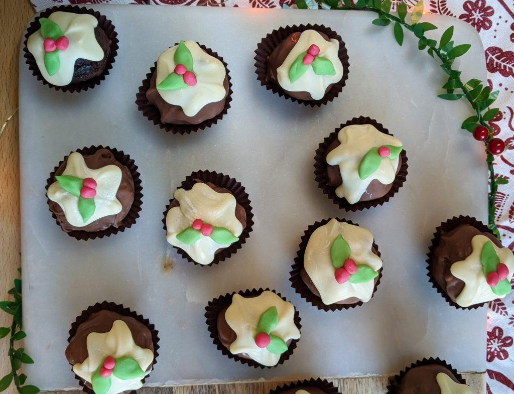 yummy christmas pudding truffles