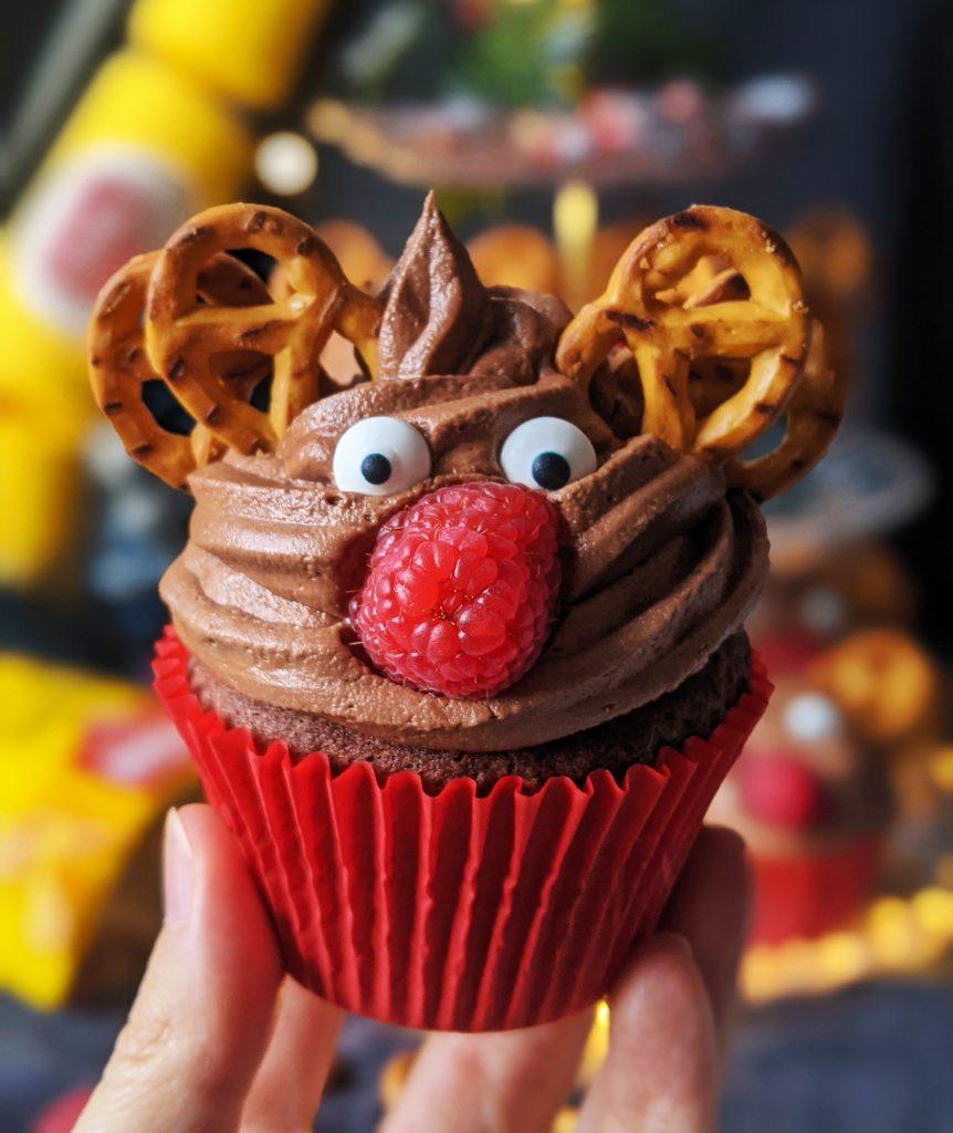 gluten free chocolate reindeer cupcakes