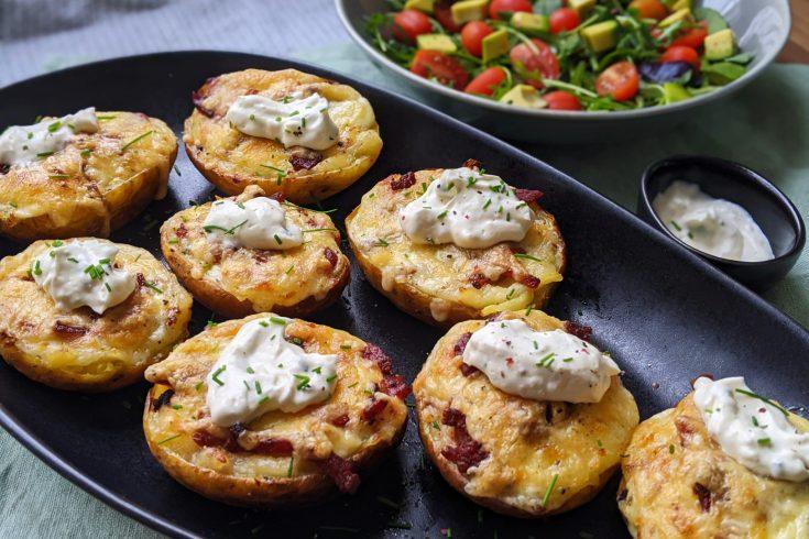 Cheese & Bacon Loaded Potato Skins (GF)