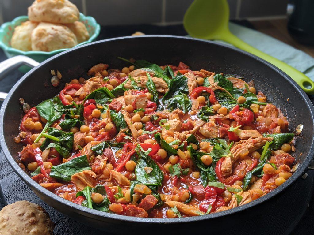 spanish chicken chorizo stew recipe