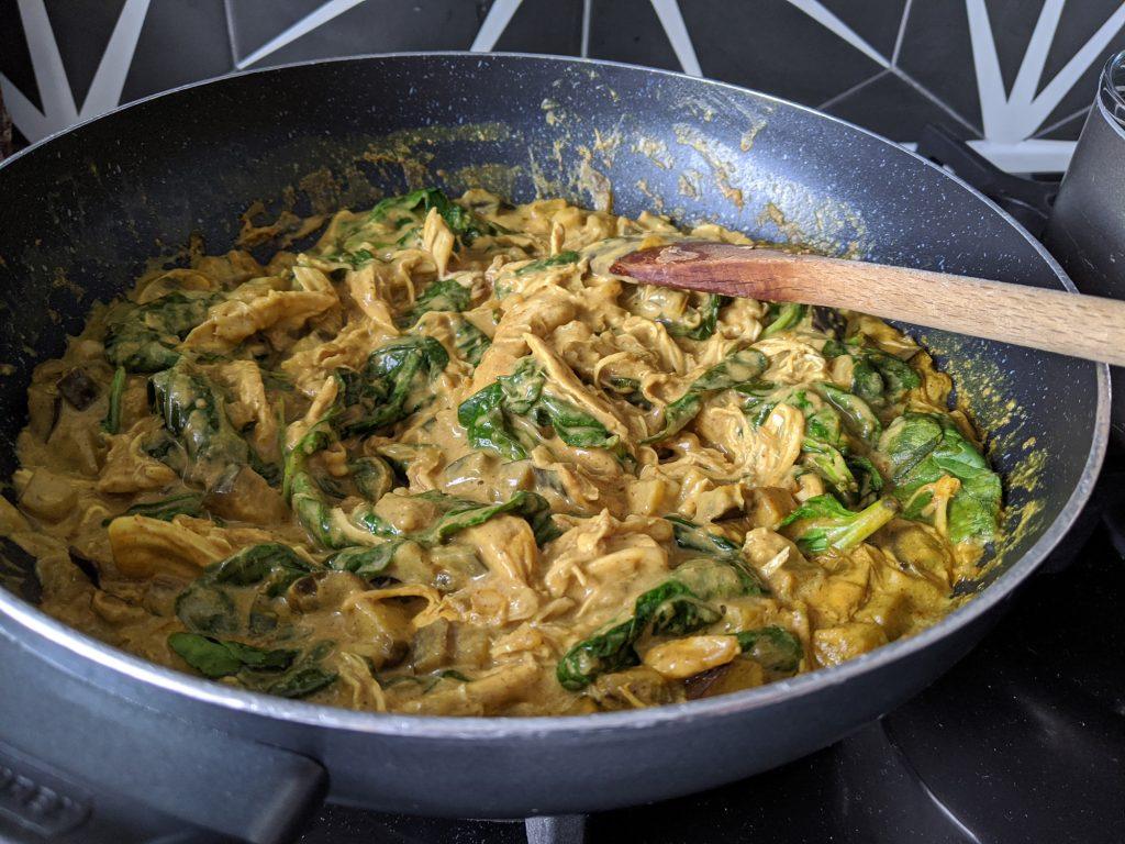 gluten free dairy free satay chicken curry