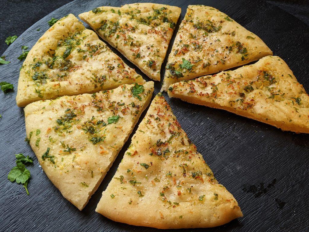 gluten free garlic pizza bread