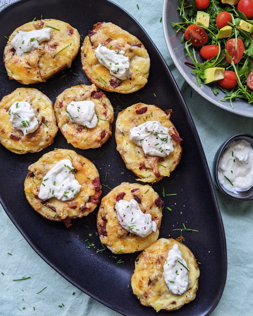 bacon and cheese loaded potato skins