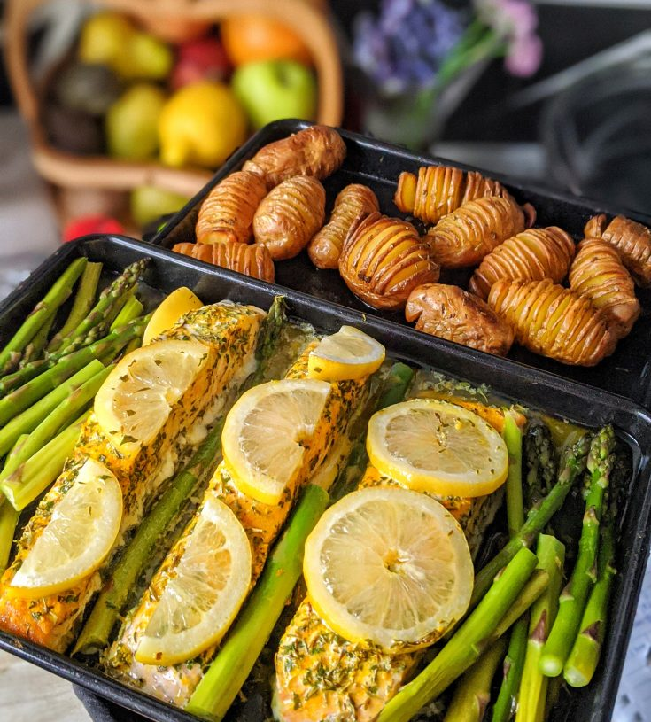 Honey Tumeric Baked Salmon with a Lemon Butter Sauce (GF)