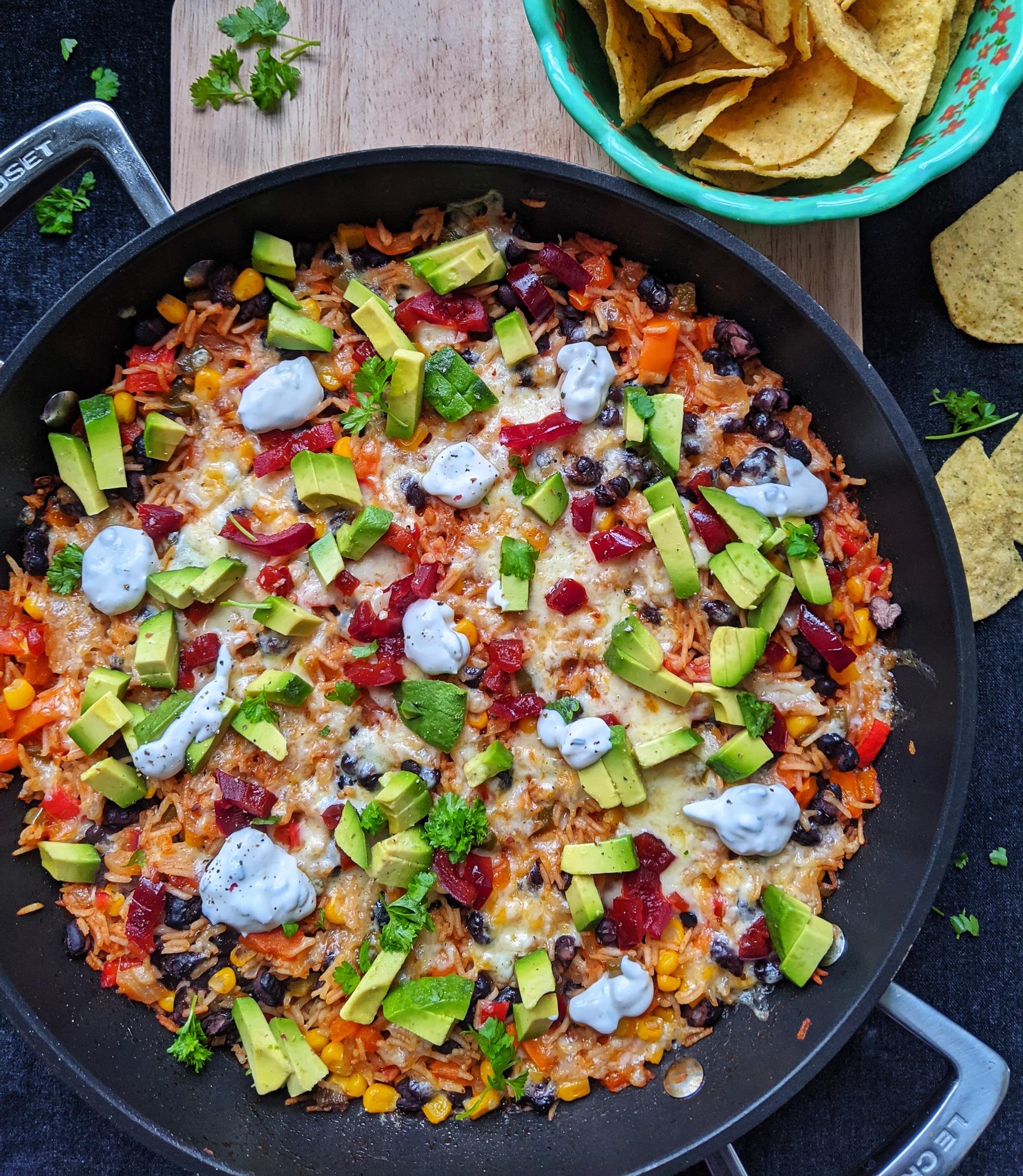 Mexikanischer Reis Ein Topf (GF, DFO)