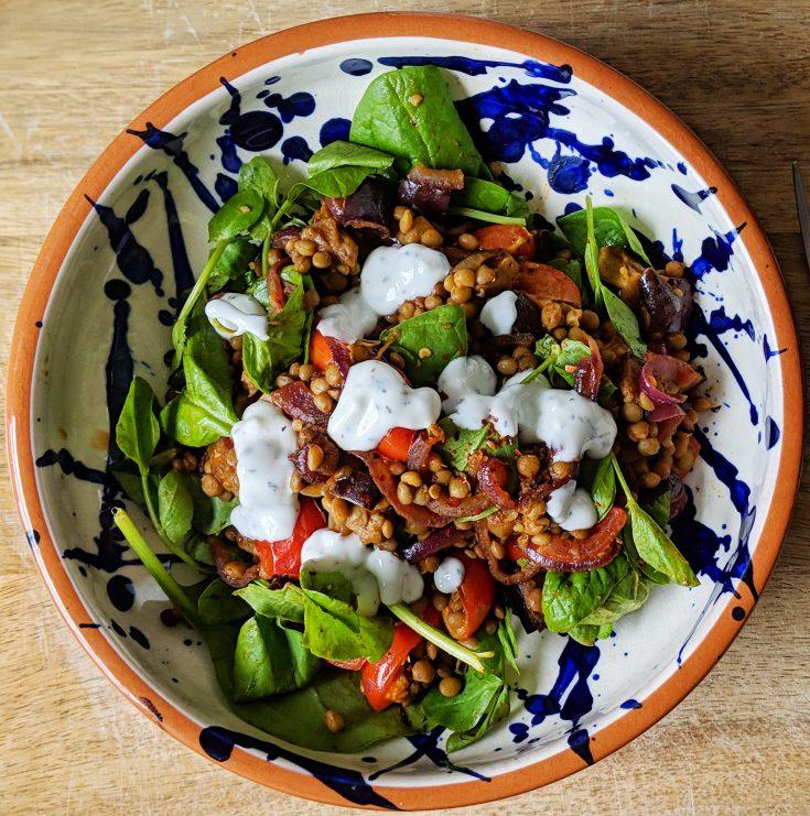 Spiced Lentil Salad Bowl (GF, DFO)