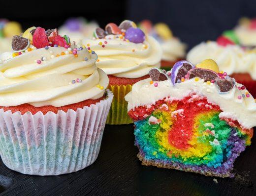 gluten free rainbow cupcakes recipe