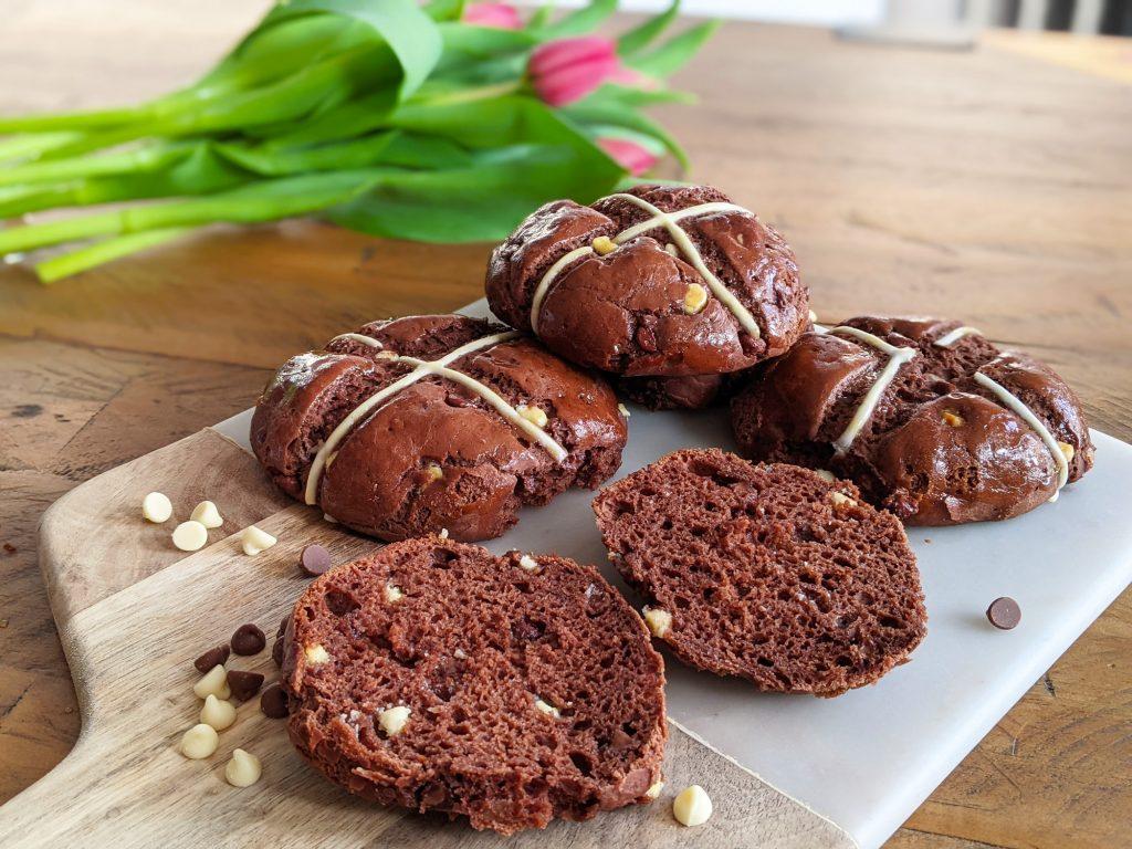 gluten free chocolate hot cross buns recipe uk