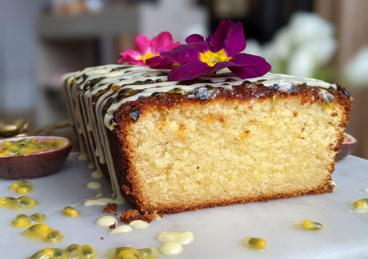 Gluten Free Passion Fruit Loaf Cake