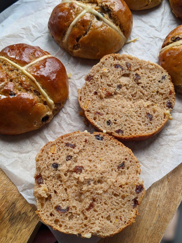 how to make gluten free hot cross buns