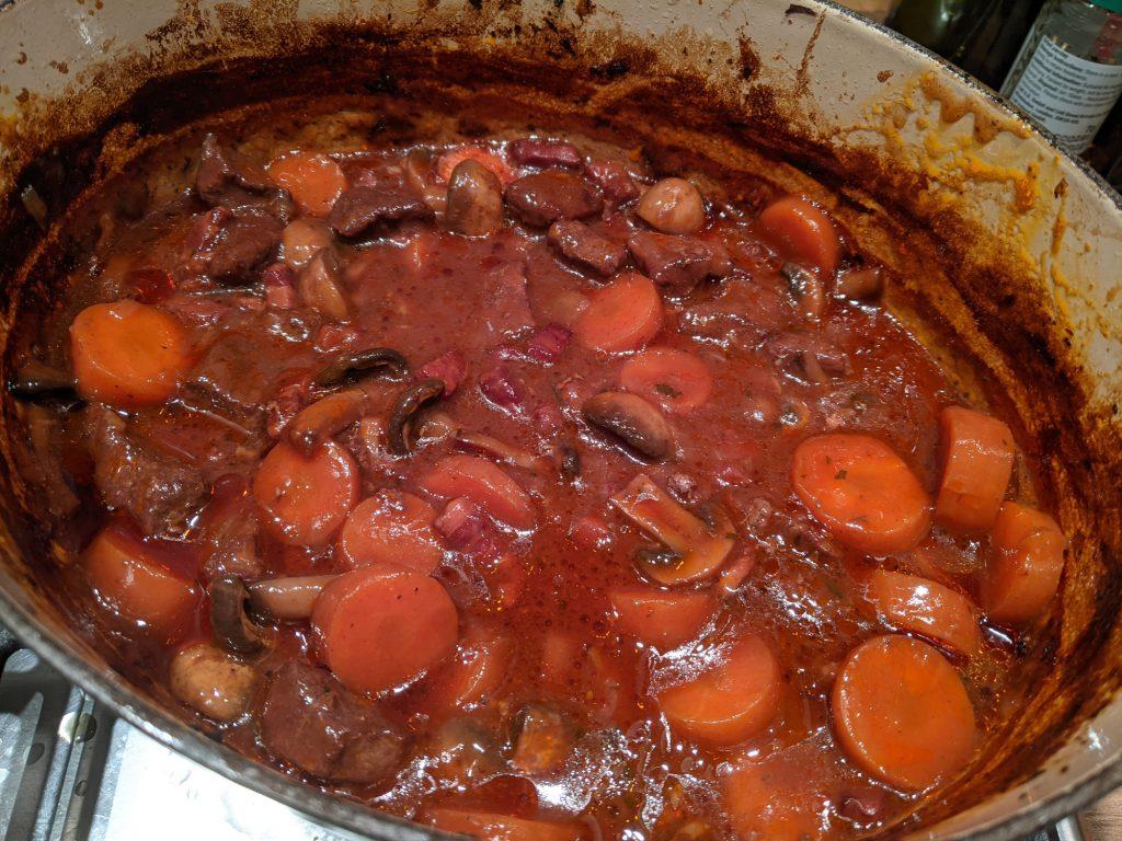 gluten free beef & red wine stew