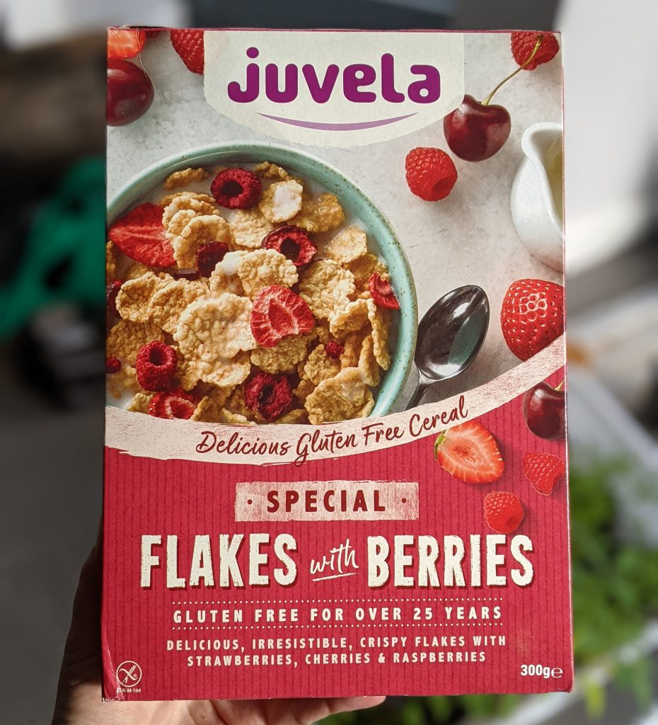 juvela gluten free special flakes with berries