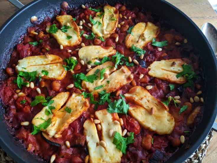 Baked Halloumi, Vegetable & Bean One Pot (GF)