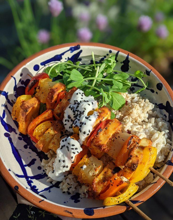 Tandoori Paneer, Pineapple & Pepper Kebabs (GF)