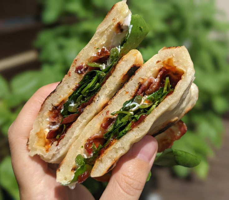 Gluten Free Bacon Naan (Dishoom Style)