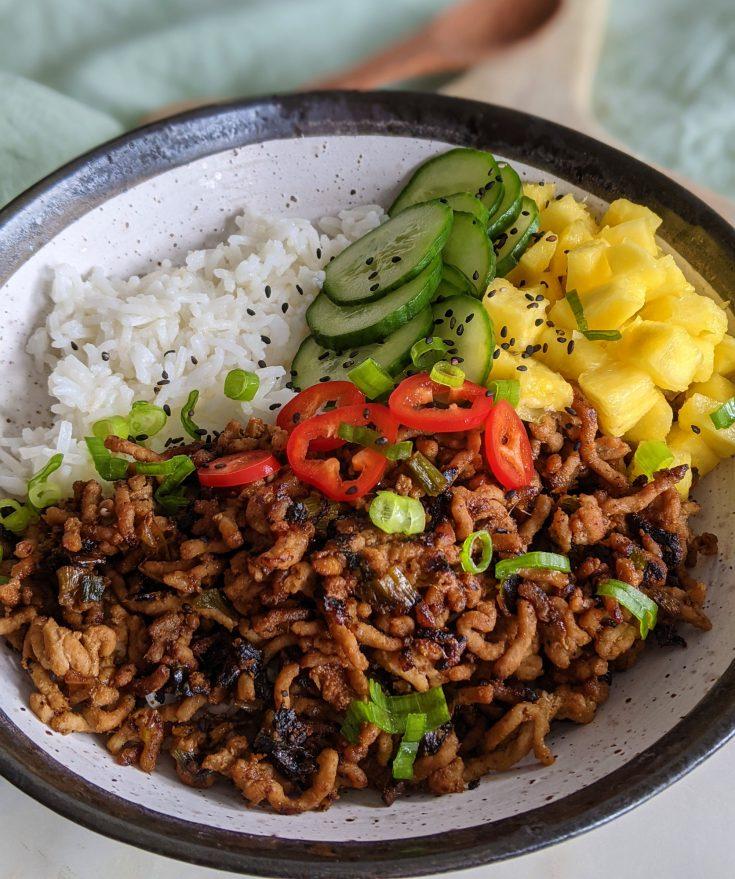 Thai Spiced Pork Rice Bowl (GF, DF)