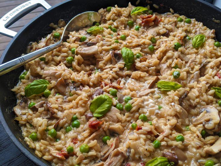 Chicken, Mushroom & Sundried Tomato Risotto (GF)