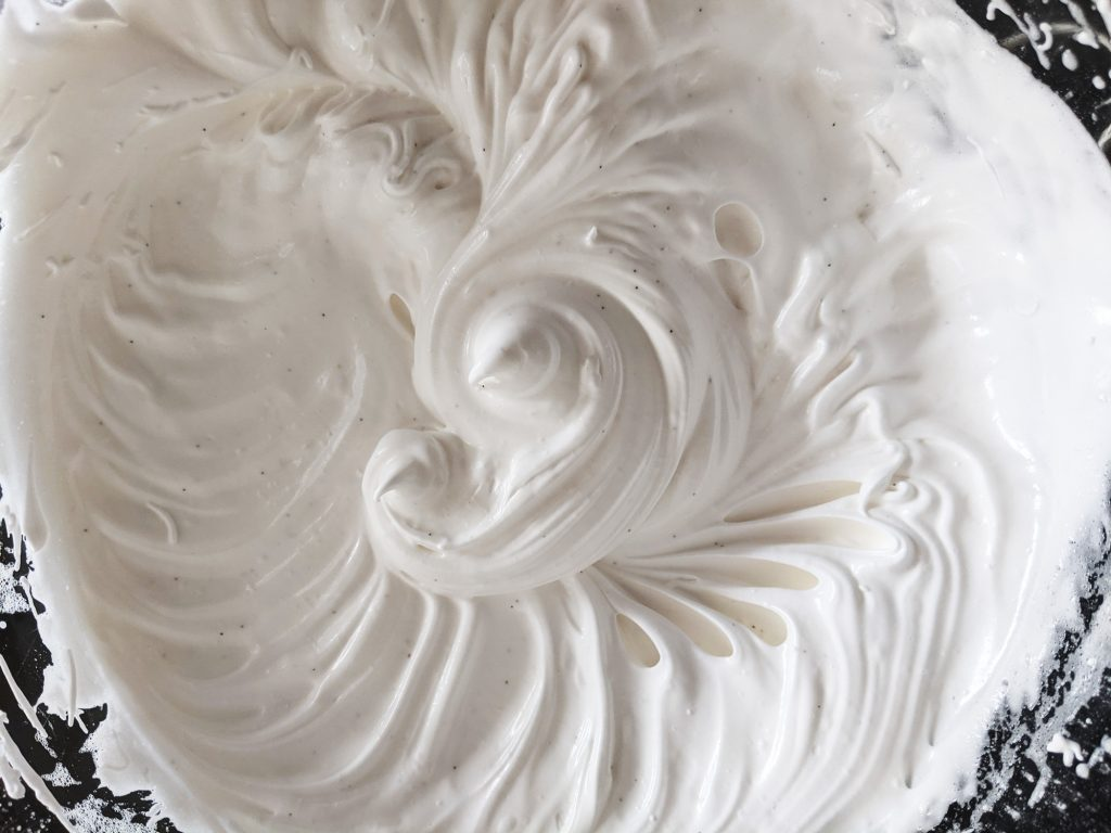 meringue whipped for roulade