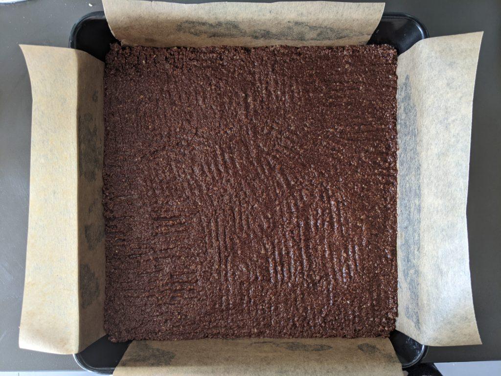 chocolate cheesecake bars base