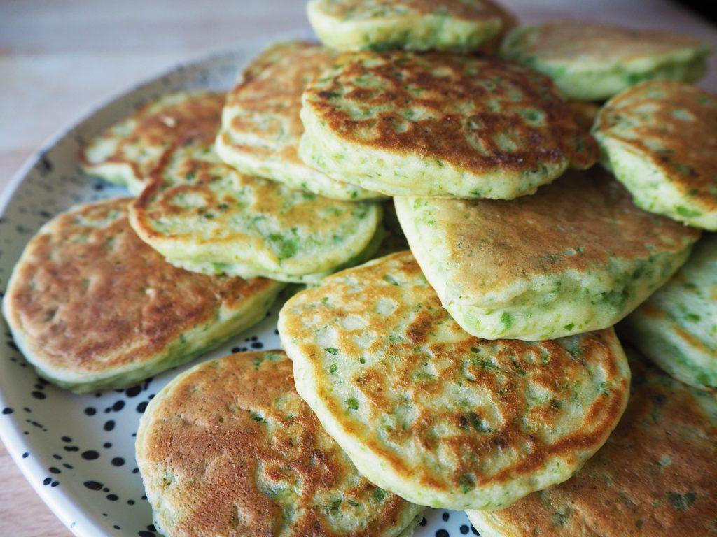 pea & ricotta pancakes