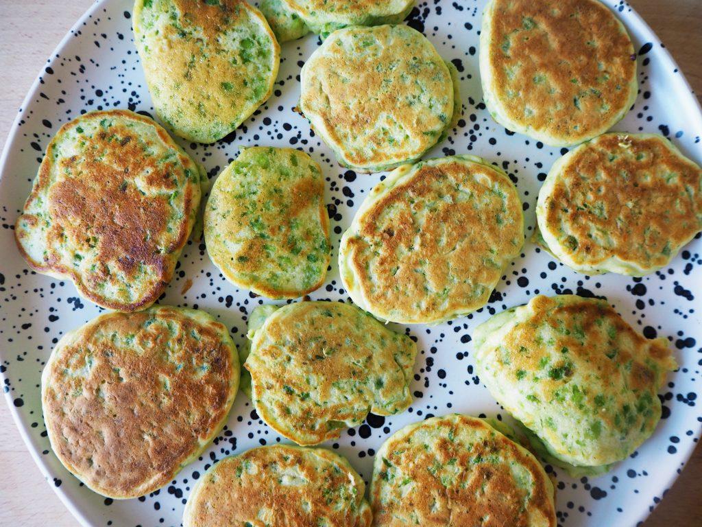gluten free pea and ricotta pancakes