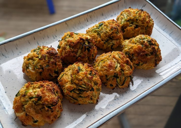 Baked Cheddar & Courgette Balls (GF)