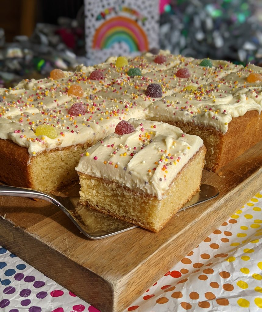gluten free vanilla sheet cake recipe
