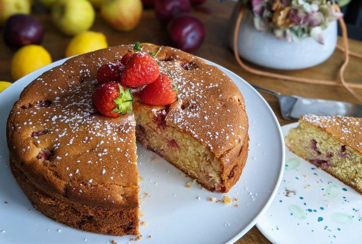 Gluten Free Strawberry & Ricotta Cake