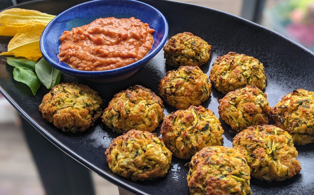 gluten free cheddar and courgette balls recipe uk