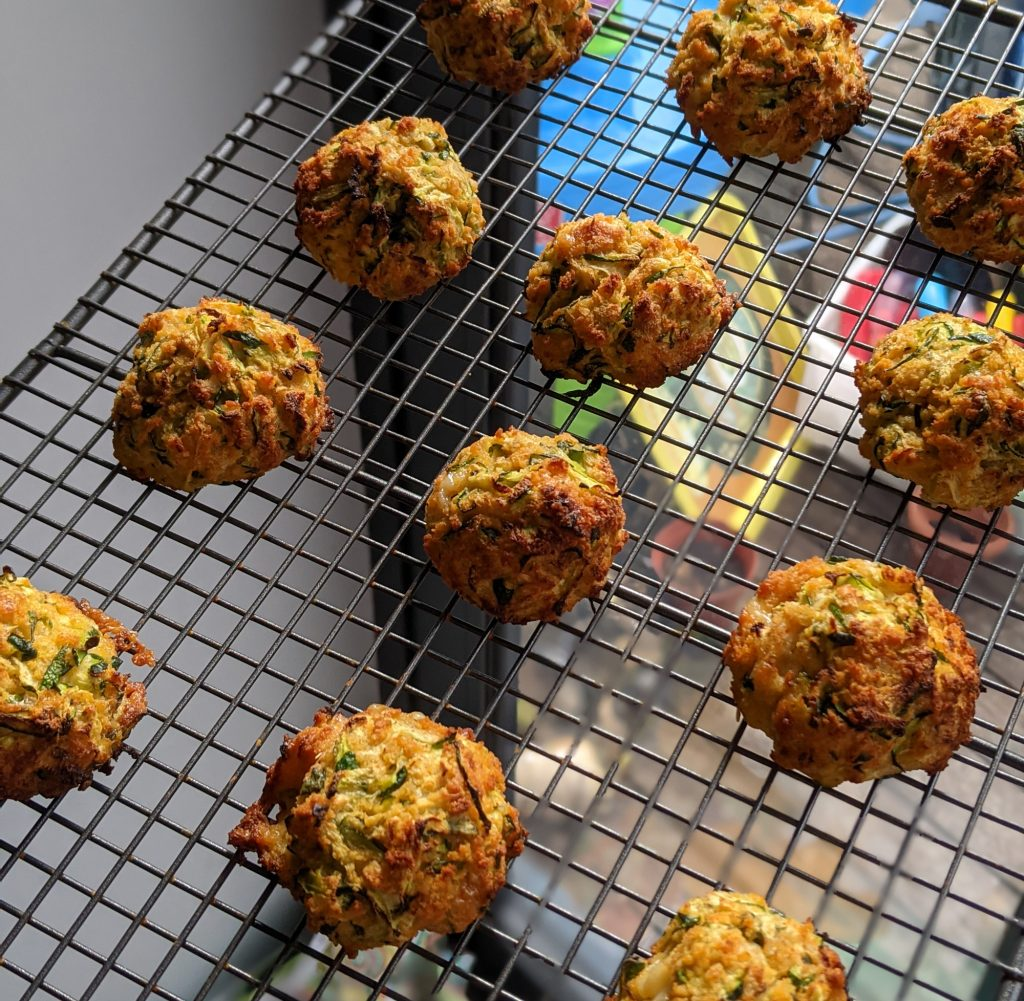 baked courgette balls recipe