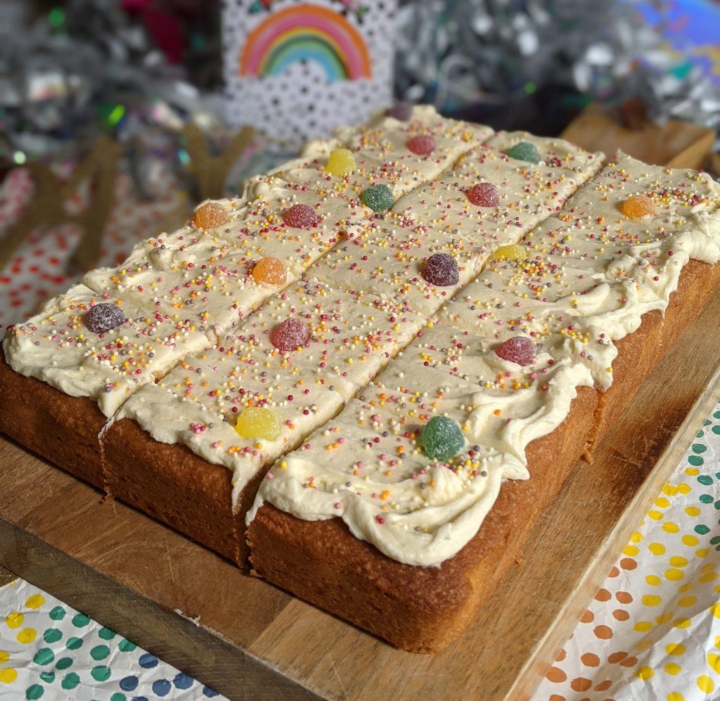 gluten free vanilla sheet cake