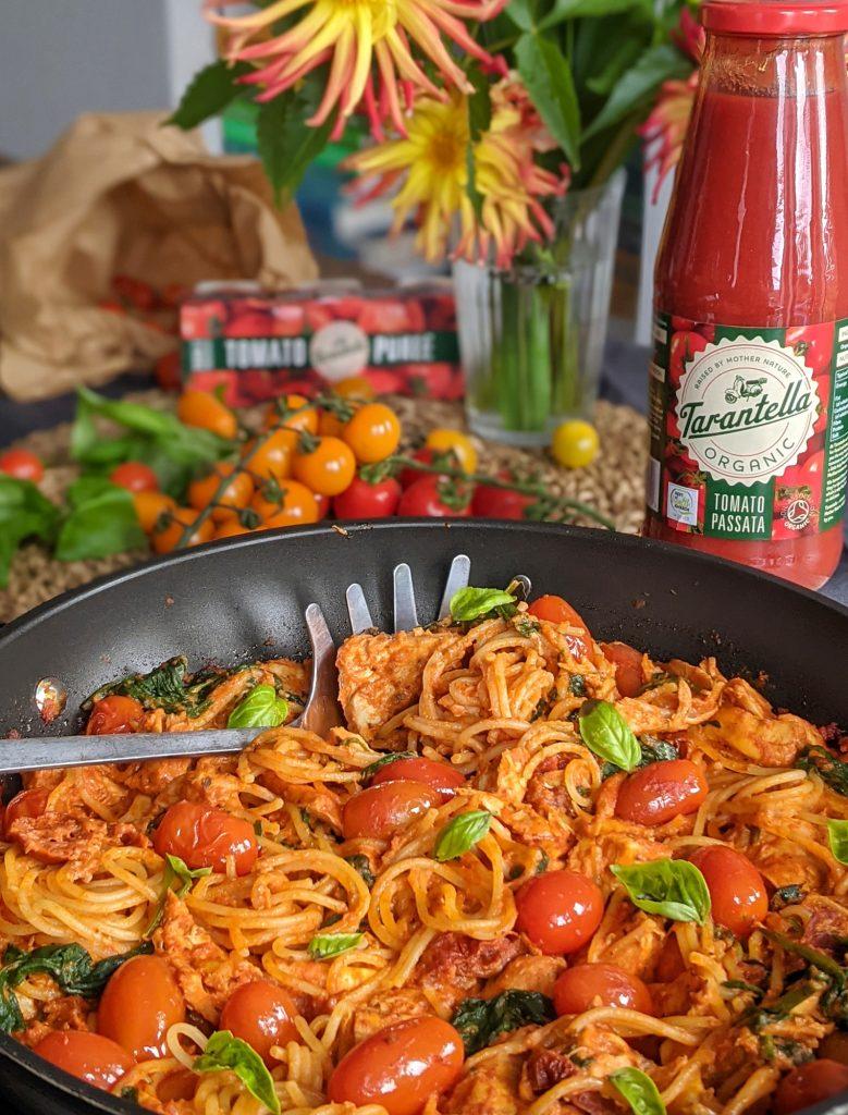 gluten free creamy tomato and chicken pasta recipe uk
