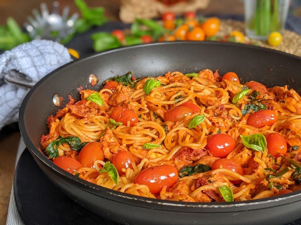 creamy tomato and chicken pasta recipe