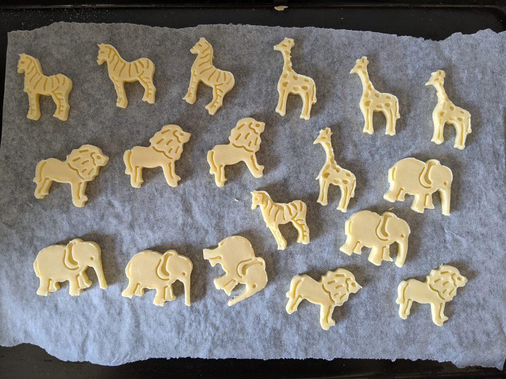 gluten free animal biscuit dough