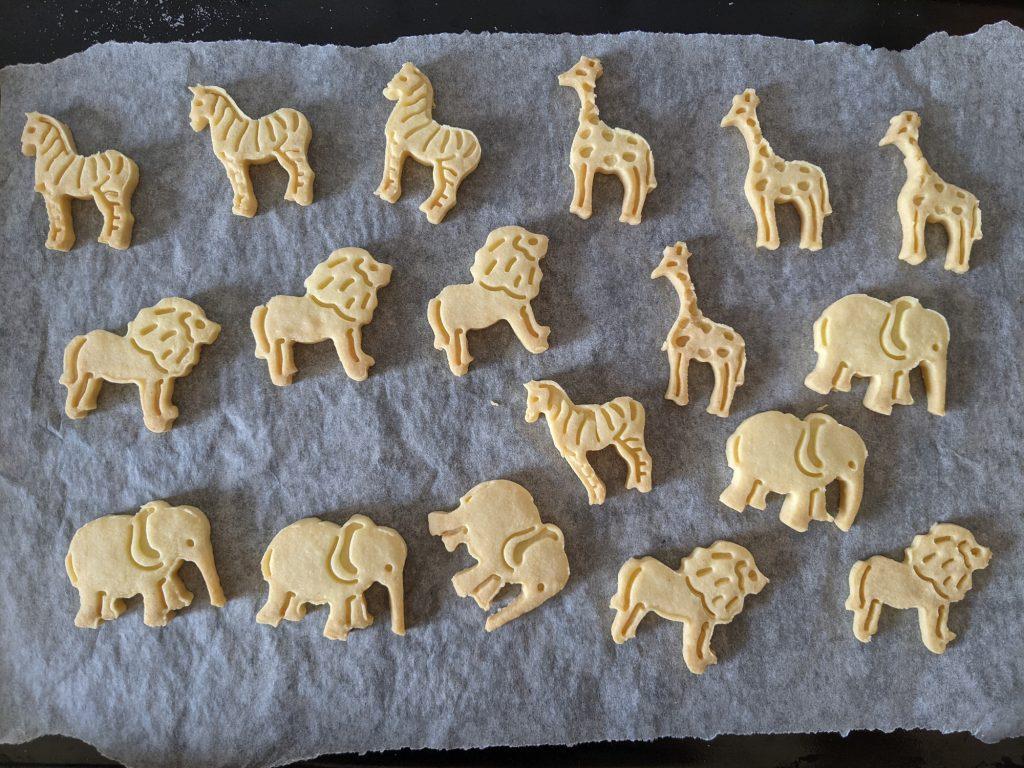 baked gluten free animal biscuits